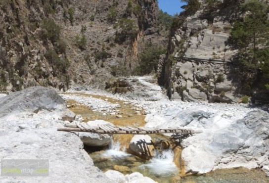 Samaria gorge at Crete island in Greece